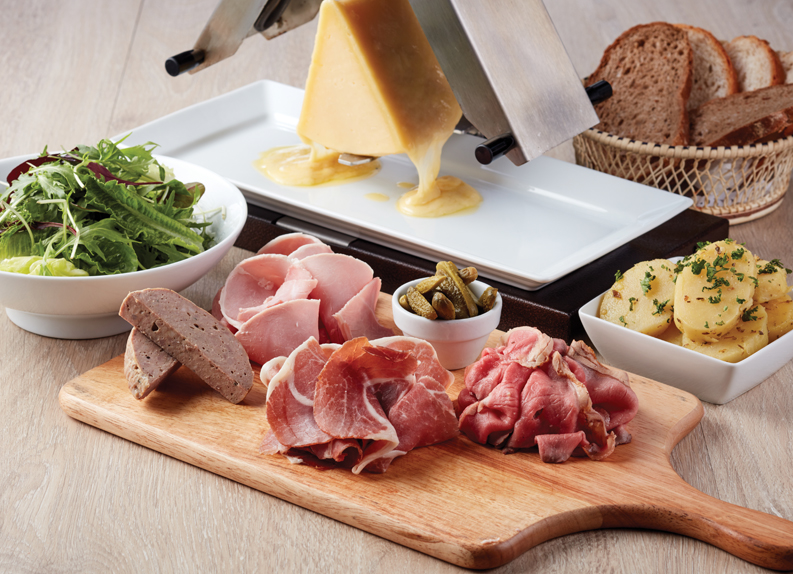 Get ready to party with a Raclette Party for 4 at $39++